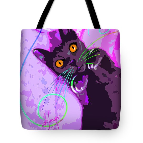 Pop Cat Angel Tote Bag
