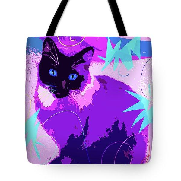 Pop Cat Cocoa Tote Bag