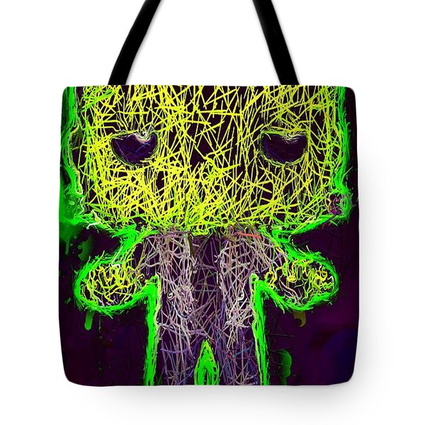 Tote Bag featuring the mixed media Frankenstein Pop 2 by Al Matra