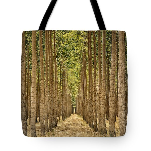 Poplars In Boardman Tote Bag