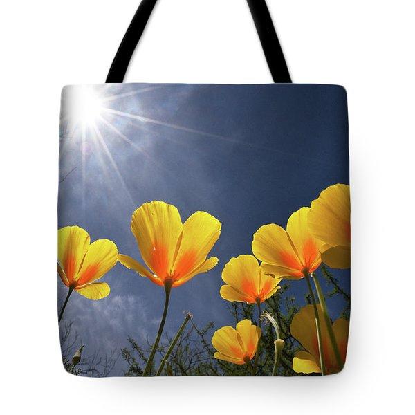 Poppies Enjoy The Sun Tote Bag