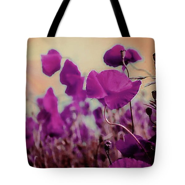 Poppies In Sunlight Tote Bag