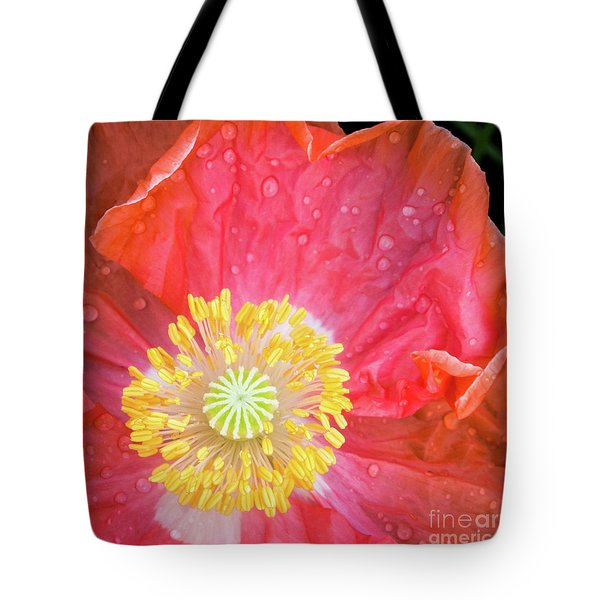 Poppy Closeup Tote Bag