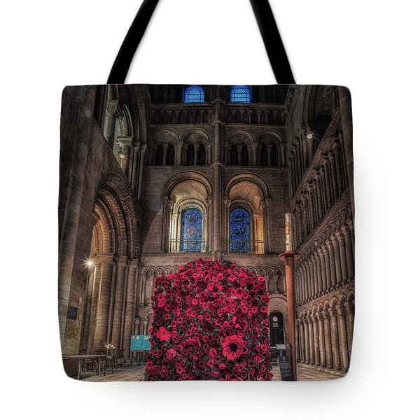 Poppy Display At Ely Cathedral Tote Bag