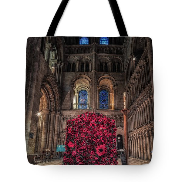 Tote Bag featuring the photograph Poppy Display At Ely Cathedral by James Billings