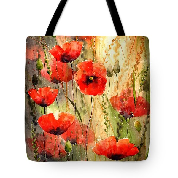 Poppy Serenade Tote Bag