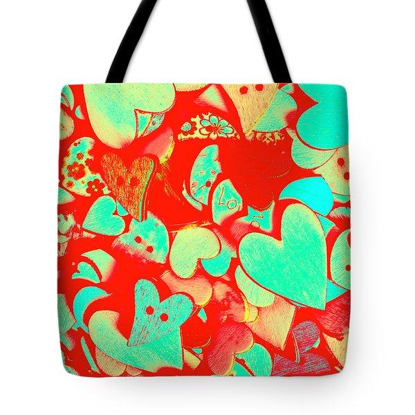Pops Of Button Romance Tote Bag
