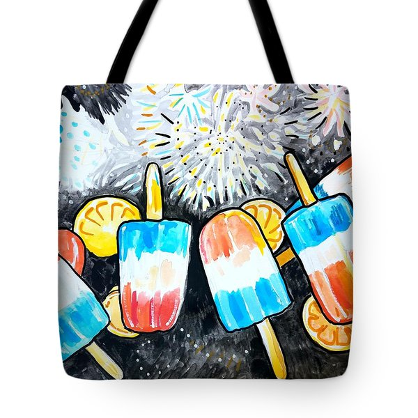 Popsicles And Fireworks Tote Bag