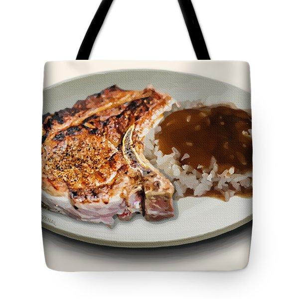 Pork Chop And Rice Tote Bag