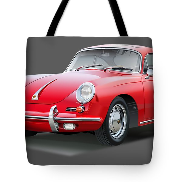 Porsche 356 No Background Tote Bag