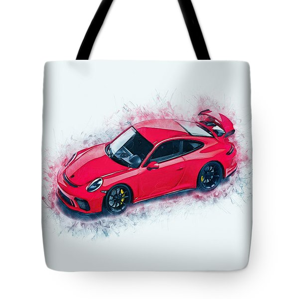 Porsche 911 Art Tote Bag