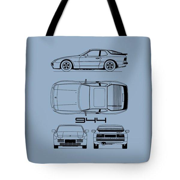 Porsche 944 Blueprint Tote Bag