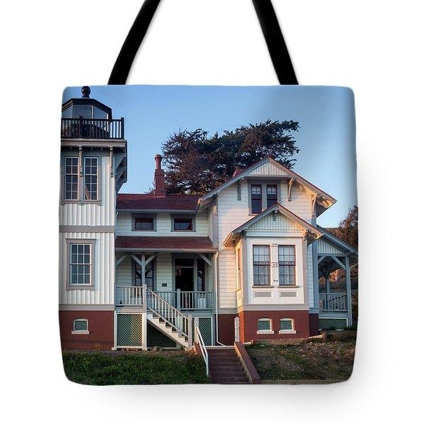 Port San Luis Lighthouse Tote Bag