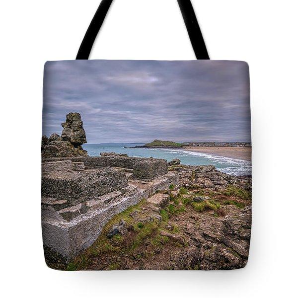 Porthmeor Beach January View Tote Bag