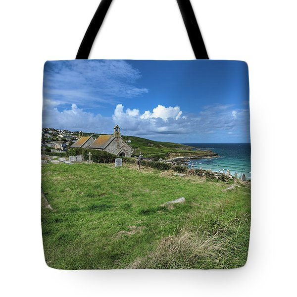 Porthmeor From Barnoon - St Ives Cornwall Tote Bag