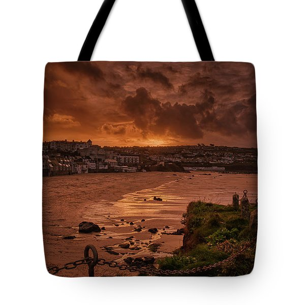 Porthmeor Sunset 2 Tote Bag