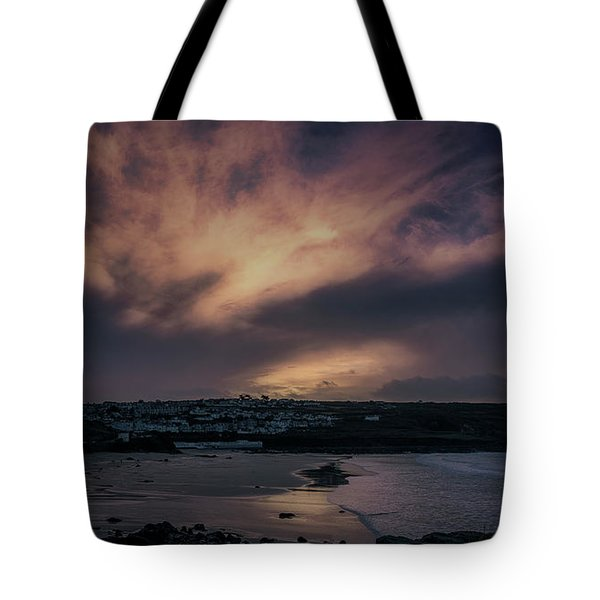 Porthmeor Sunset 4 Tote Bag