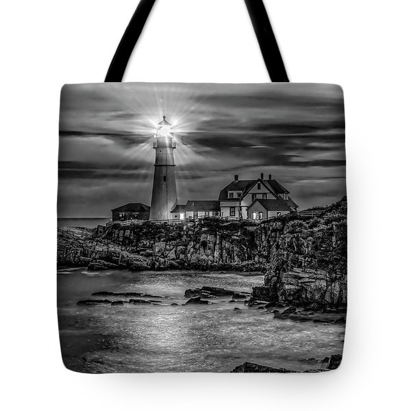 Portland Lighthouse 7363 Tote Bag