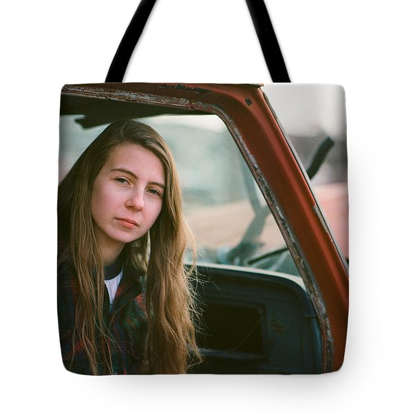 Portrait In A Truck Tote Bag