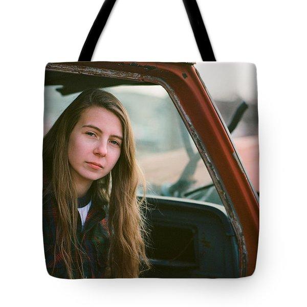 Portrait In A Truck Tote Bag