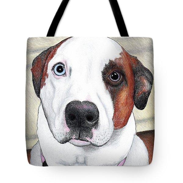 Portrait Of A Dog Named Dave Tote Bag