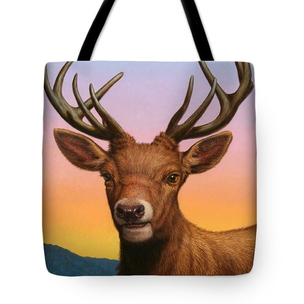 Portrait Of A Red Deer Tote Bag