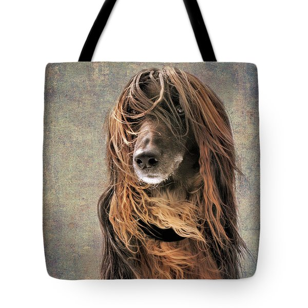 Portrait Of An Afghan Hound Tote Bag