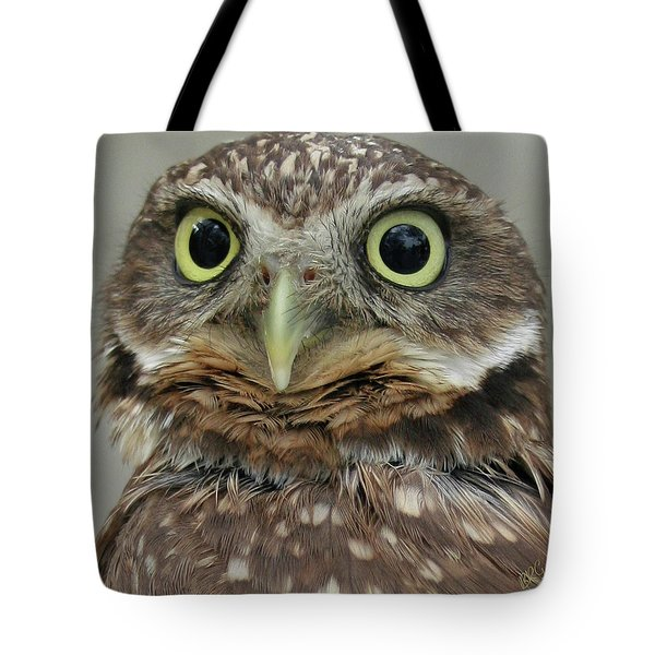 Portrait Of Burrowing Owl Tote Bag