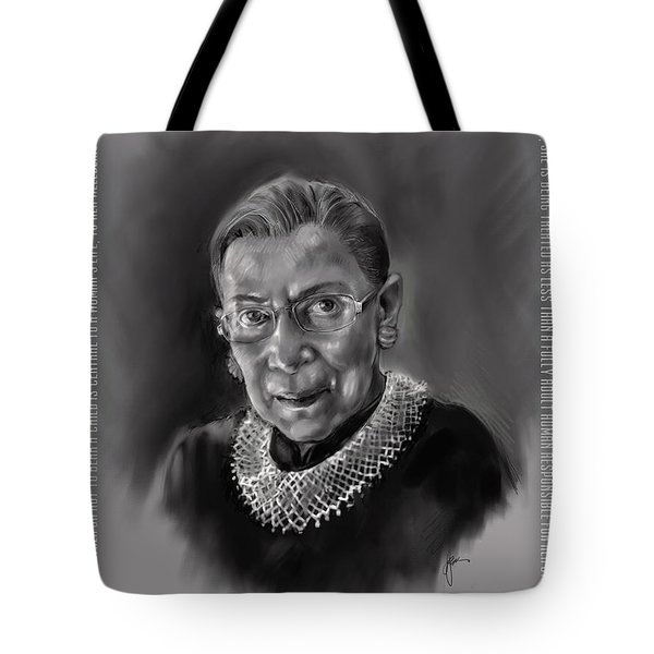 Portrait Of Ruth Bader Ginsburg Tote Bag