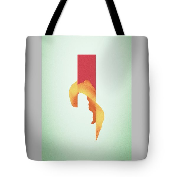 Powder Bone Flare - Surreal Abstract Elephant Bone Collage With Rectangle Tote Bag