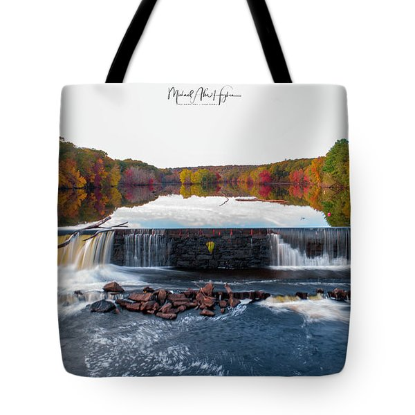 Tote Bag featuring the photograph Power Of The Shetucket by Michael Hughes