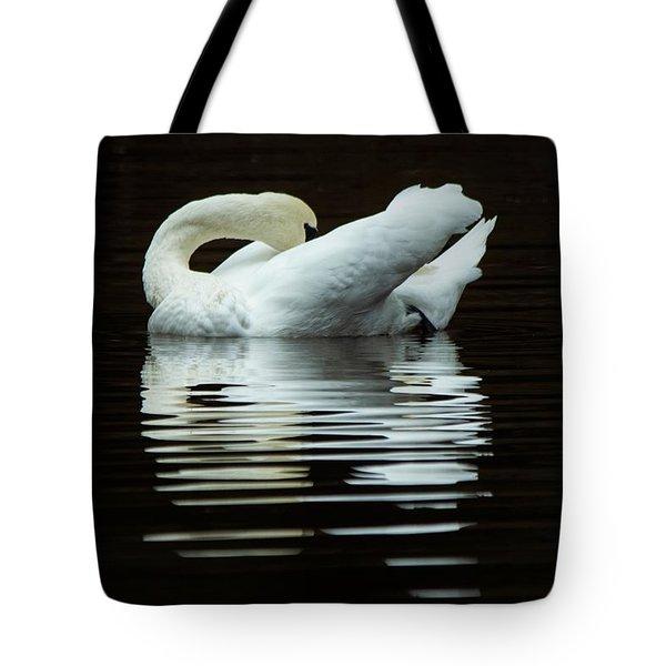 Preening Mute Swan Tote Bag