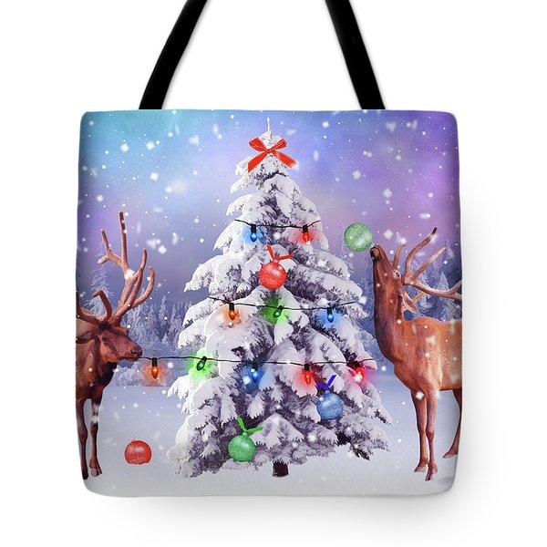 Preparing For Christmas Tote Bag