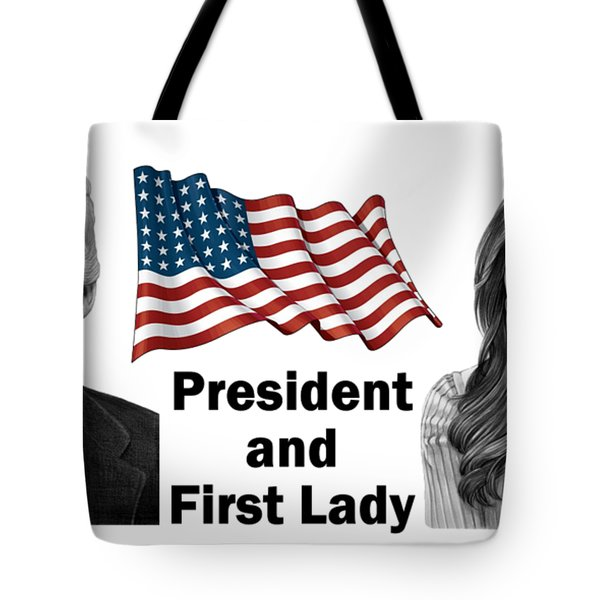 President And First Lady Tote Bag
