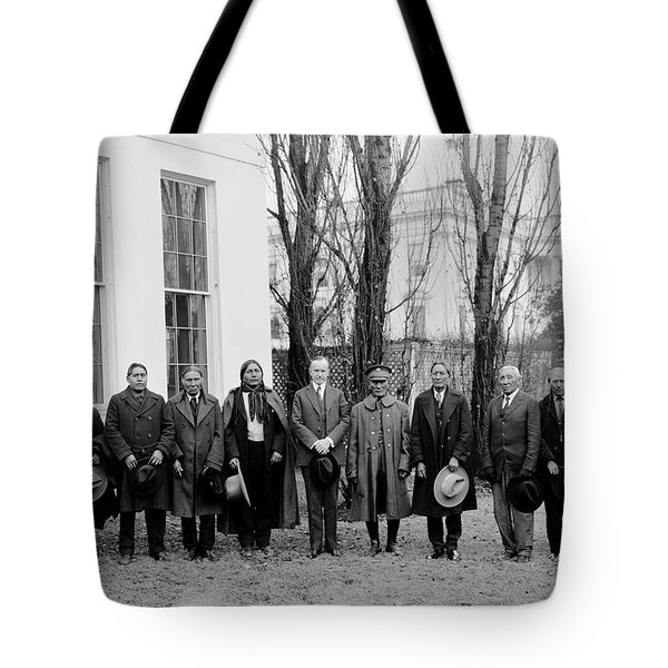President Coolidge With Delegation Tote Bag