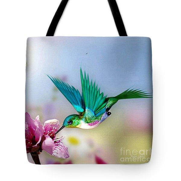 Pretty Hummingbird Tote Bag