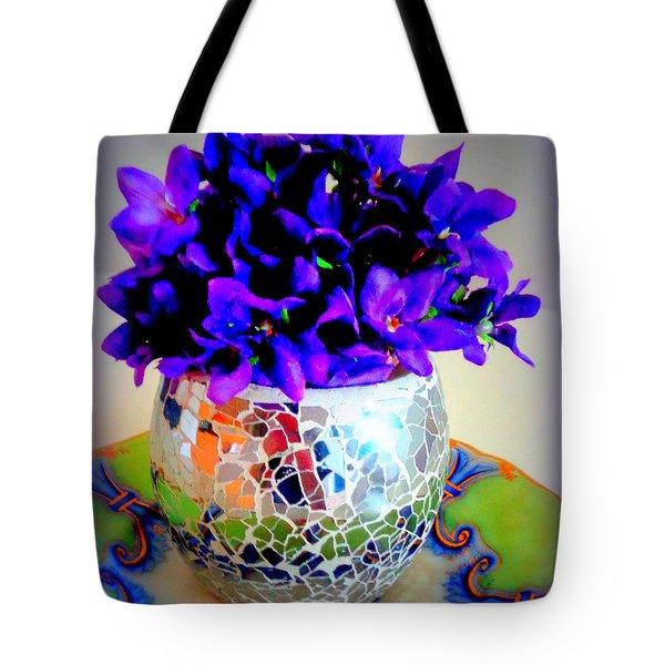 Pretty Purple Petals O T T Tote Bag