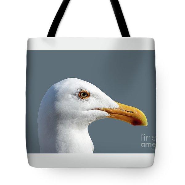 Pretty Western Gull In Profile Tote Bag