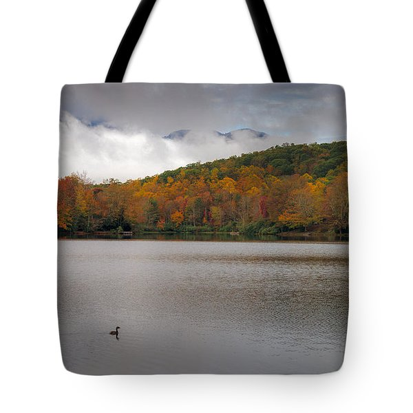 Price Lake Autumn - Grandfather Mountain - Blue Ridge Parkway Tote Bag