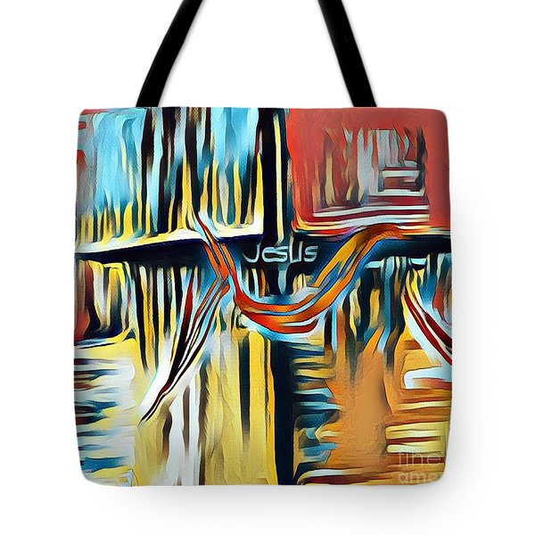 Tote Bag featuring the mixed media Primary Colors by Jessica Eli