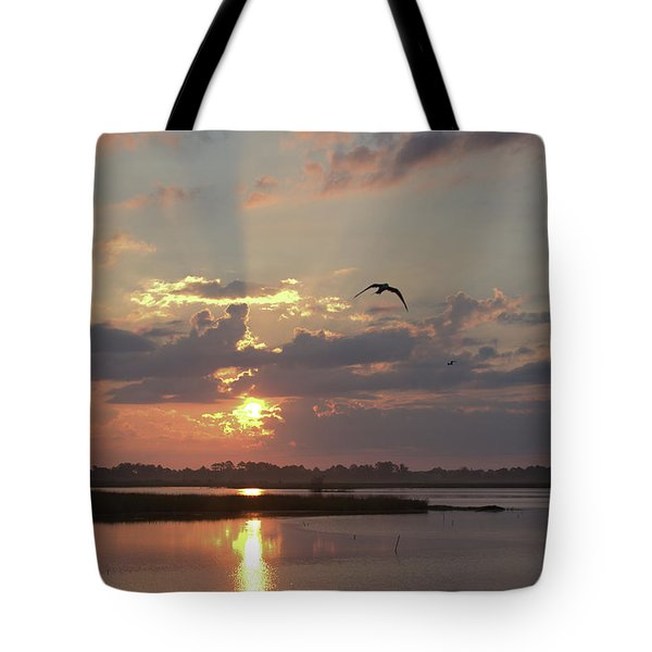 Tote Bag featuring the photograph Prime Hook Sunrise 1 by Buddy Scott