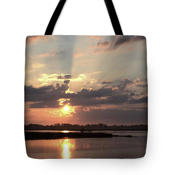 Tote Bag featuring the photograph Prime Hook Sunrise 3 by Buddy Scott