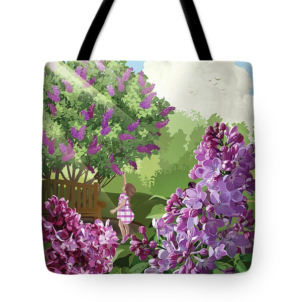 Tote Bag featuring the drawing Print by Clint Hansen
