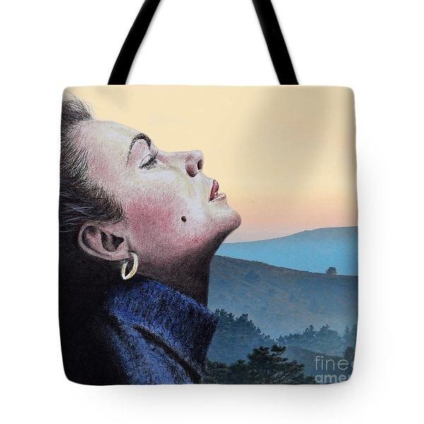 Profile Portrait Of Liz Taylor At Sunset Tote Bag