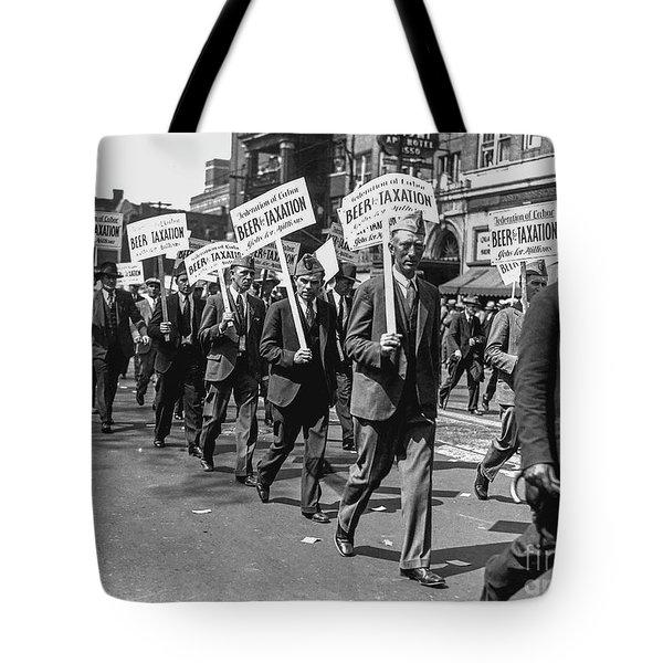Prohibition Protest March Tote Bag