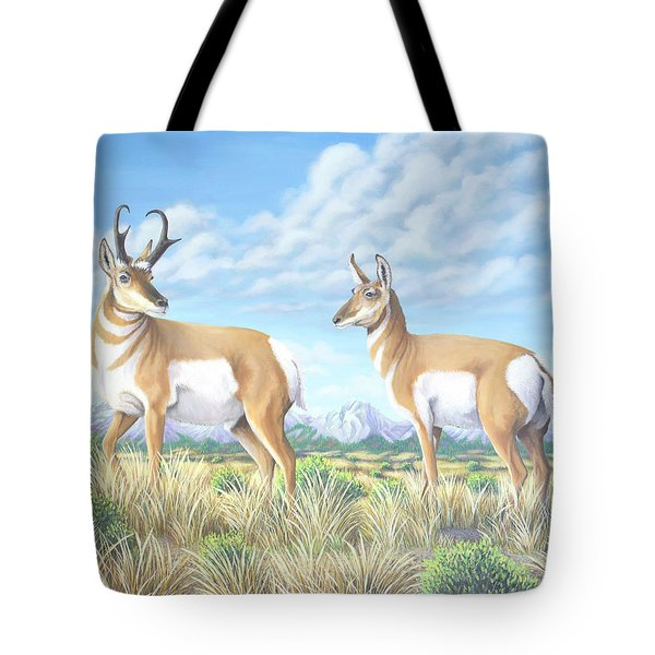 Pronghorn By The Tetons Tote Bag