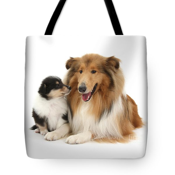 Tote Bag featuring the photograph Proud Mother And Pup by Warren Photographic