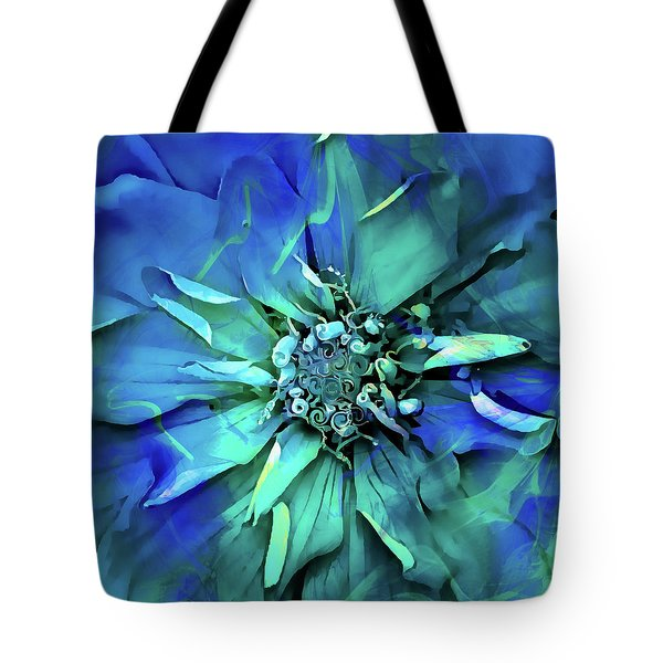 Psychedelic Blues Tote Bag