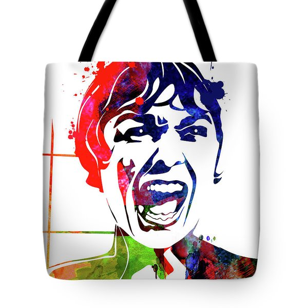 Psycho Watercolor Tote Bag