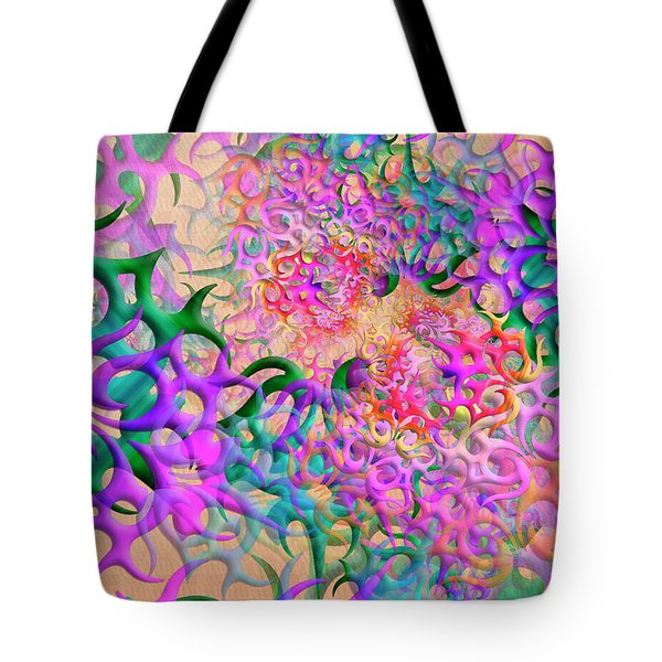 Tote Bag featuring the digital art Psylog by Vitaly Mishurovsky